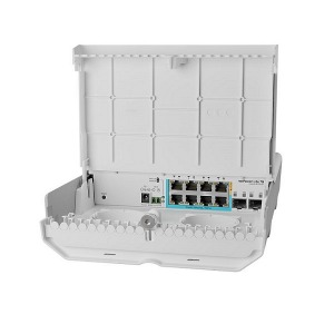 [MikroTik] 마이크로틱 CSS610-1Gi-7R-2S+OUT (NetPower Lite 7R)  8포트 기가 10G 스위치 + SFP 10G 옥외용  Industrial L2